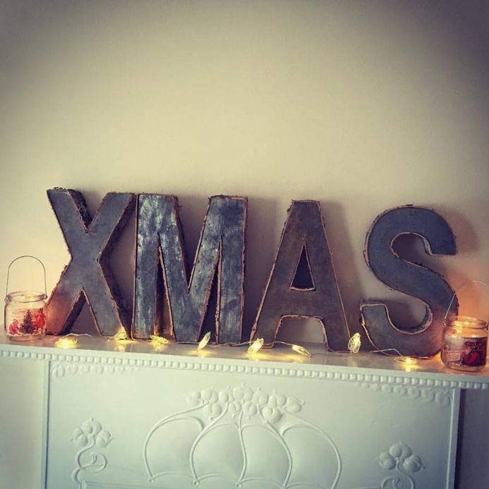 50% OFF Large Birch & Iron Xmas Sign